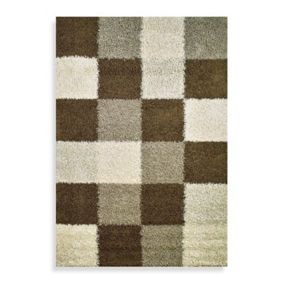 Concord Global Blocks Natural 3-Foot 3-Inch x 4-Foot 7-Inch Rug
