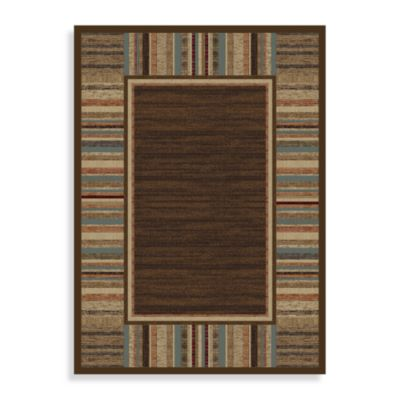Concord Global Border Brown 7-Foot 10-Inch x 10-Foot 10-Inch Indoor Rug