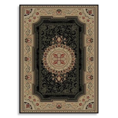 Concord Global Chateau 5-Foot 3-Inch Round Rug in Black