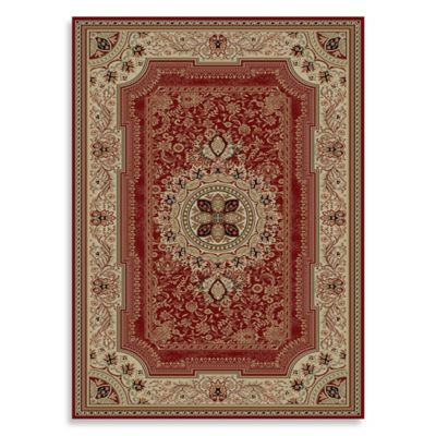 Concord Global Chateau 7-Foot 10-Inch x 10-Foot 10-Inch Rug in Red