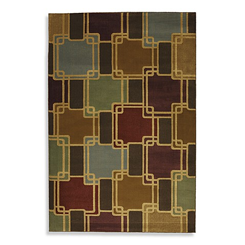 Mohawk Home Conventional 8-Foot x 10-Foot Indoor Rug in Dark Butter