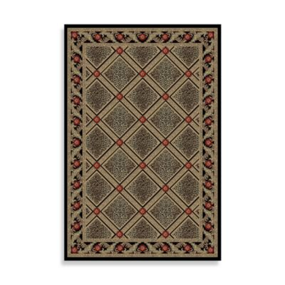 Concord Global Diamond 3-Foot 11-Inch x 5-Foot 7-Inch Rug