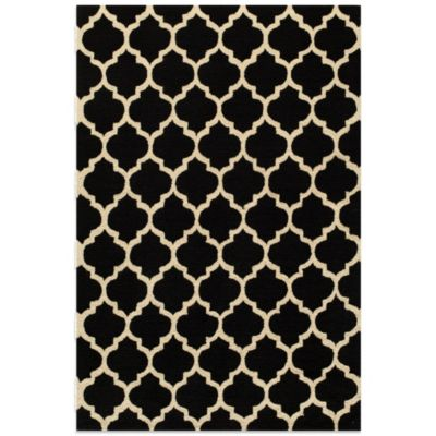 Dimensions 7-Foot 6-Inch x 9-Foot 6-Inch Hook Rug in Black