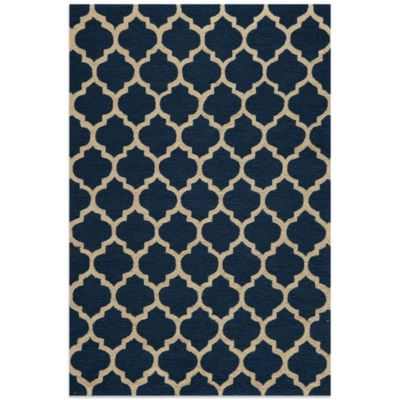 Dimensions 7-Foot 6-Inch x 9-Foot 6-Inch Hook Rug in Navy