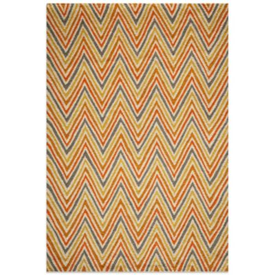 Momeni Dimensions 7-Foot 6-Inch x 9-Foot 6-Inch Hook Rug in Orange