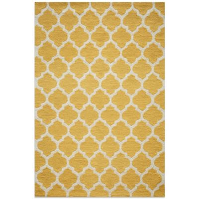 Dimensions 2-Foot 3-Inch x 7-Foot 6-Inch Hook Rug in Yellow