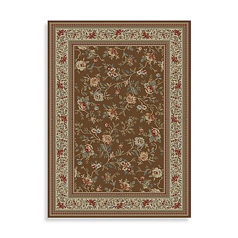 Concord Global Trading Ankara Floral Garden Brown 3-Foot 11-Inch x 5-Foot 5-Inch Rug