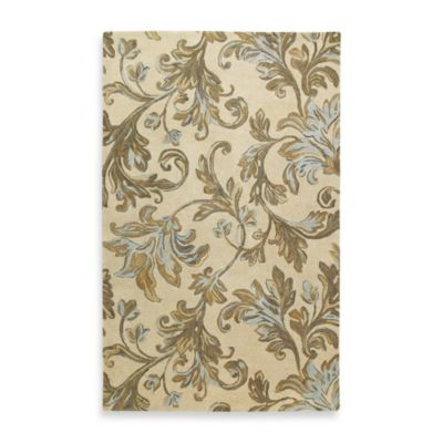 Kaleen Floral Waterfall 8-Foot x 8-Foot Square Rug in Ivory