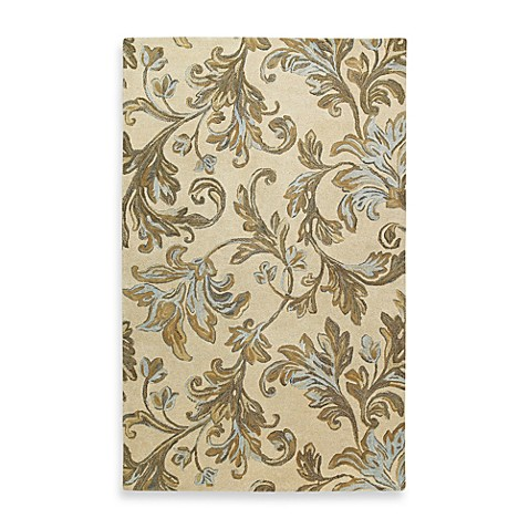 Kaleen Floral Waterfall Rug in Ivory