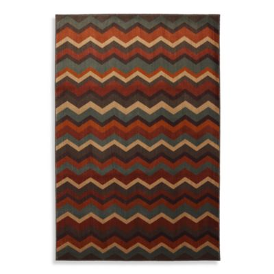 Mohawk Home Frye 8-Foot x 10-Foot Indoor Rug in Rust
