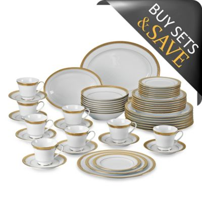 Gold China Dinnerware Sets