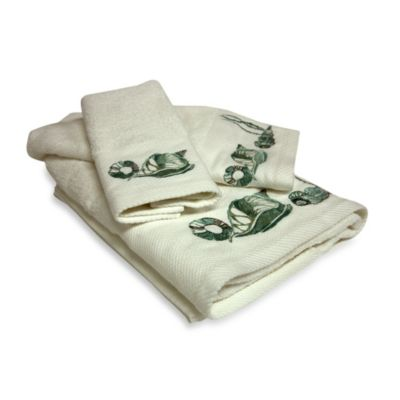 Bath Towels Seashell Design