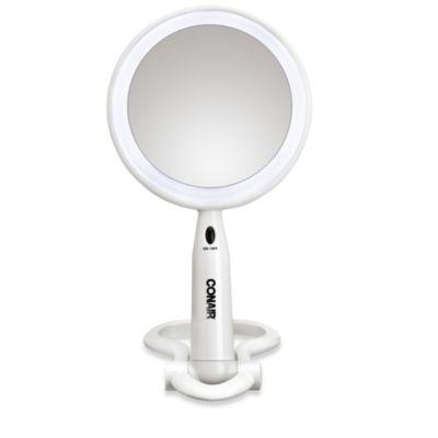 Conair® 1X/3X Lifetime LED Mirror in White