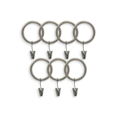 Preston Pewter Clip Rings - Set of 7
