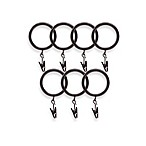 North Branch Oil Rubbed Bronze Clip Rings - Set of 7