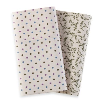 Sage Vine Flannel Pillowcases