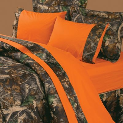 Oak Camo Orange Sheet Set
