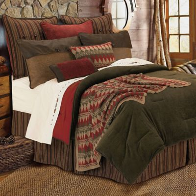 Wilderness Ridge 6-Piece Queen Comforter Set in Olive Green