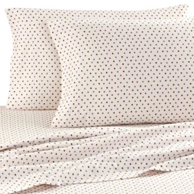 Seasons King Flannel Sheets in Polka Dot