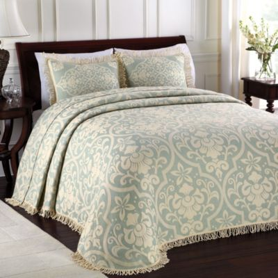 Lamont Home™Allover Brocade Queen Bedspread in Blue