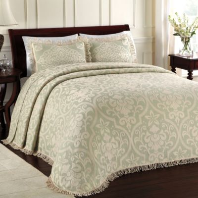 Lamont Home™ All Over Brocade Queen Bedspread in Sage