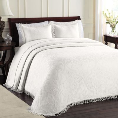 Quilted White Bed Pillow Shams