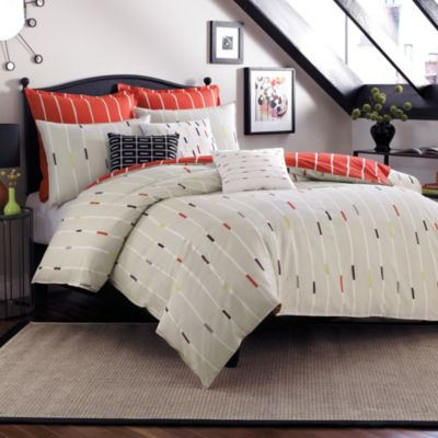 notNeutral Bugle Full/Queen Duvet Cover in Red Multi