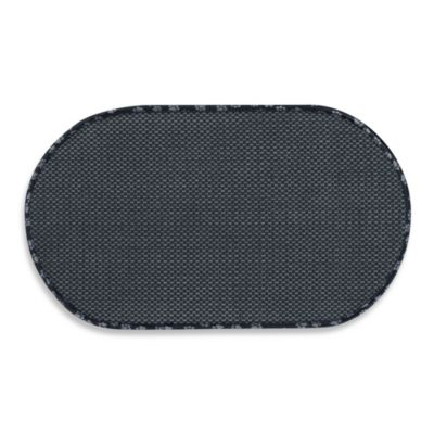 The Original™ Black Pet Bowl Mat in Large