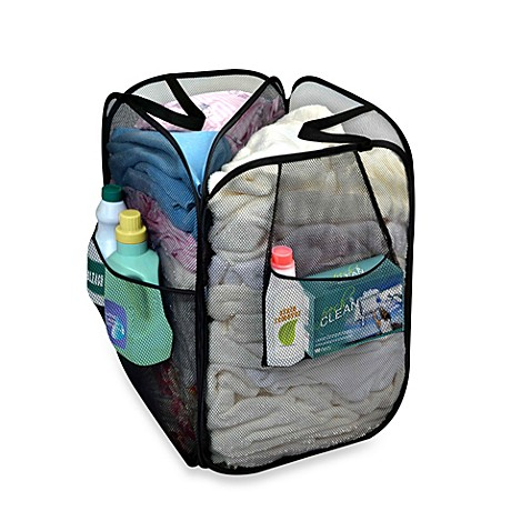 Dazz Divided Pop Up Hamper in Black