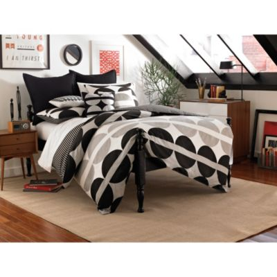 notNeutral® Half Moon King Duvet Cover in Grey Multi