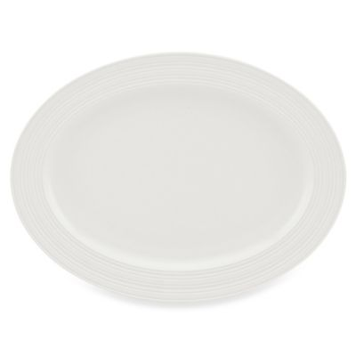 kate spade new york Fair Harbor 16-Inch Oval Platter in White Truffle