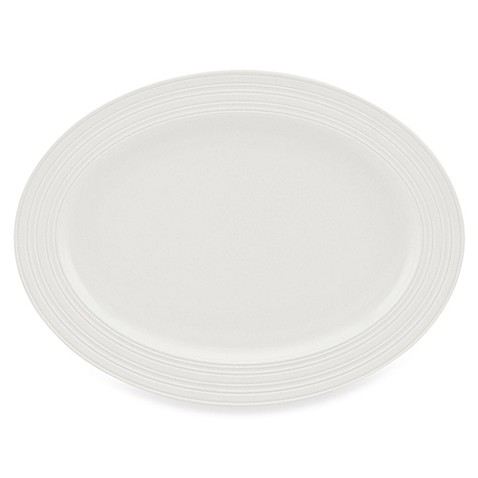 kate spade new york Fair Harbor White Truffle 16-Inch Oval Platter