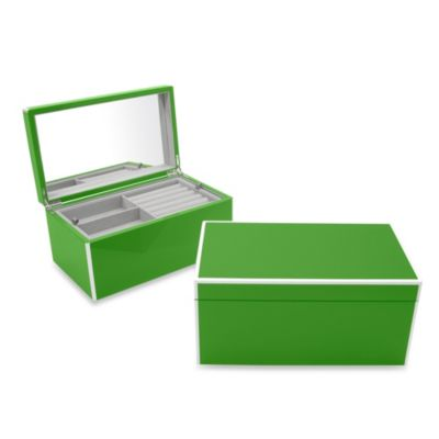 Swing Design™ Elle Lacquer Jewelry Box in Green