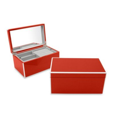 Elle Lacquer Jewelry Box in Red