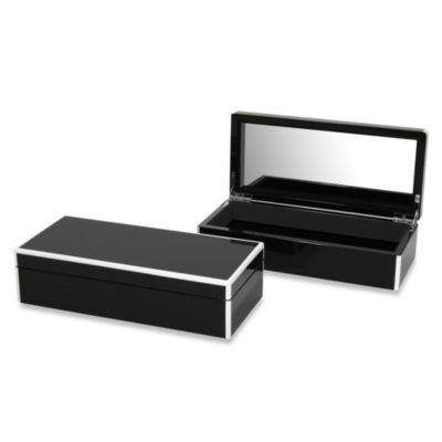 Swing Design™ Elle Lacquer Vanity Box in Black