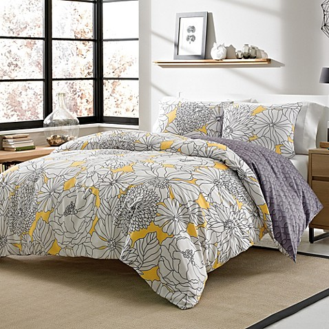 Addison 3-4 Piece Reversible Duvet Cover Set