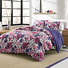 Zoey 3 4 Piece Reversible Duvet Cover Set Bed Bath Amp Beyond