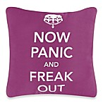 Threadless Panic Freak Out Toss Pillow