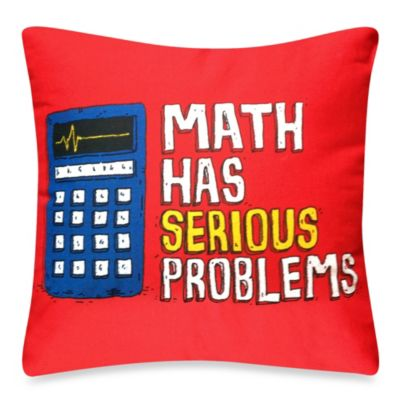 Threadless Math Serious Toss Pillow