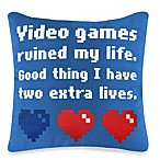 Threadless Video Games Toss Pillow