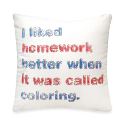 Threadless Homework Toss Pillow