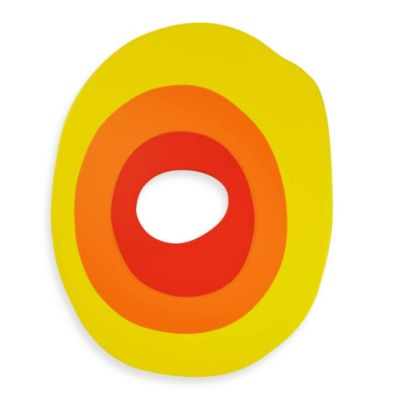 "Bright-Colored Wooden Letter ""O"""