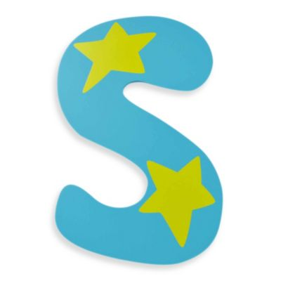 """Bright-Colored Wooden Letter """"S"""""""
