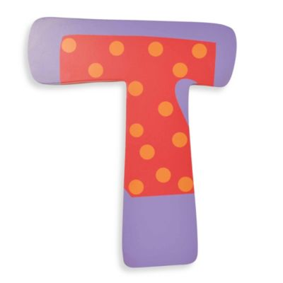 "Bright-Colored Wooden Letter ""T"""