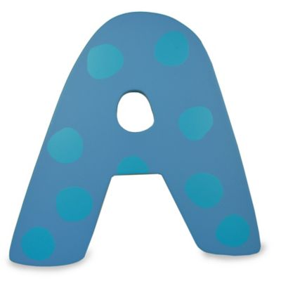 "Bright-Colored Wooden Letter ""A"""
