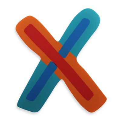 """Bright-Colored Wooden Letter """"X"""""""