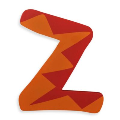 "Bright-Colored Wooden Letter ""Z"""