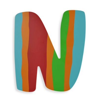 "Bright-Colored Wooden Letter ""N"""