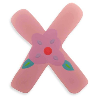 "Pastel-Colored Wooden Letter ""X"""