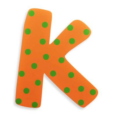 "Bright-Colored Wooden Letter ""K"""